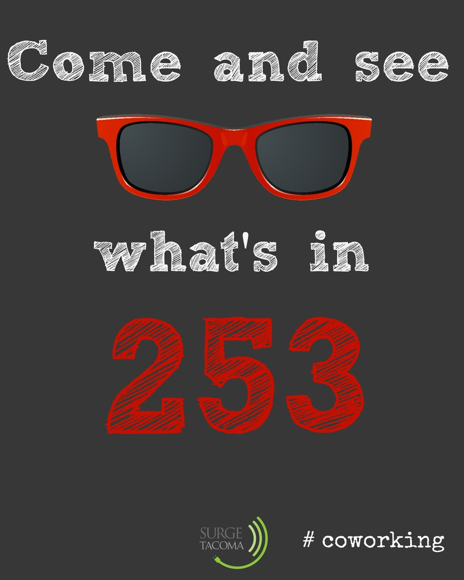 see what is in 253 #coworking #SURGEtacoma